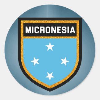 Micronesia Flag Classic Round Sticker