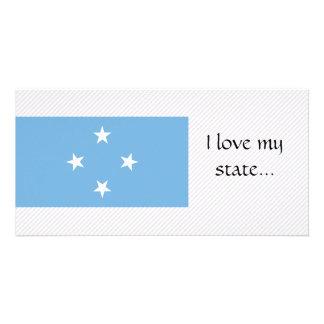 Micronesia Flag Customized Photo Card