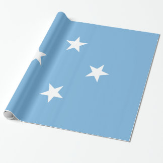 Micronesia Flag Wrapping Paper