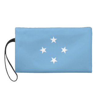 Micronesia Flag Wristlet Clutches
