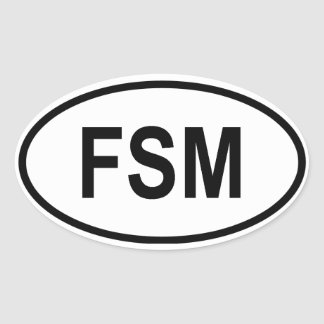 "Micronesia ""FSM"" Oval Sticker"