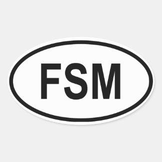 "Micronesia ""FSM"" Stickers"