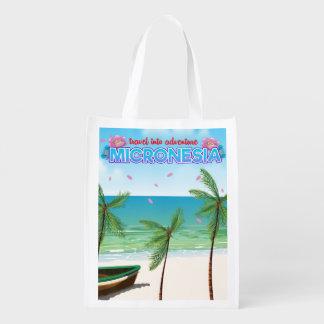 "Micronesia ""Travel into adventure"" Reusable Grocery Bag"