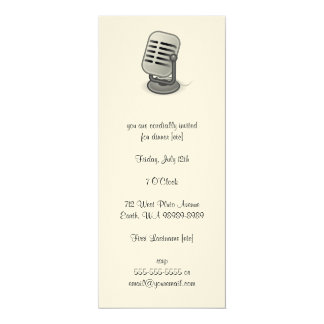 Microphone 10 Cm X 24 Cm Invitation Card