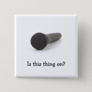 Microphone 15 Cm Square Badge
