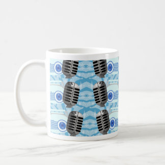 Microphone and Retro Radio Too Coffee Mug