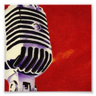 Microphone Art Print Photograph
