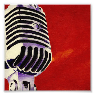 Microphone Art Print Photographic Print