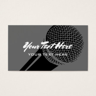 Microphone business card template logo design