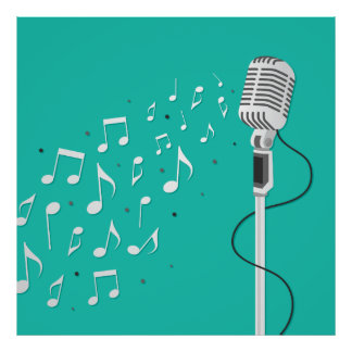 Microphone Cool Illustration Poster
