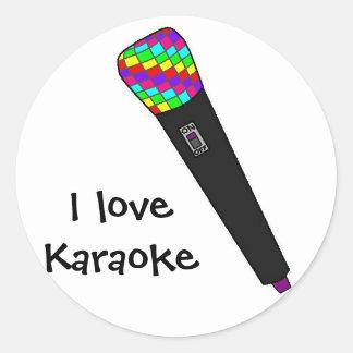 microphone disco classic round sticker