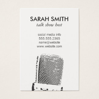 Microphone / Entertainment Business Card