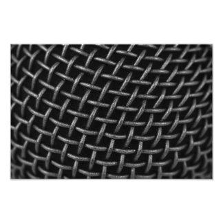 Microphone Grid Background Photo Print