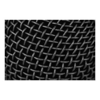 Microphone Grid Background Poster