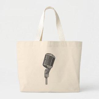 Microphone Mike ~ Audio Sound Music Jumbo Tote Bag