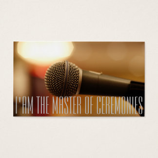 Microphone of MC (Master of Ceremonies) Business Card