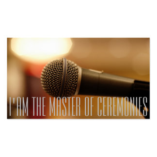 Microphone of MC (Master of Ceremonies) Pack Of Standard Business Cards