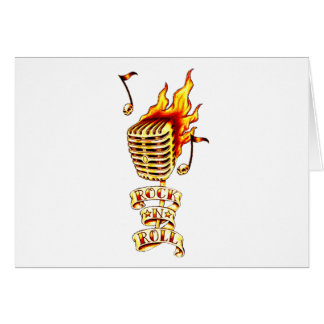 Microphone on fire greeting card
