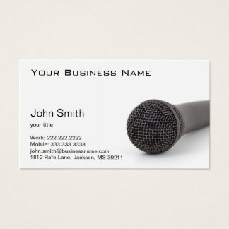 Microphone on the Floor Business Card