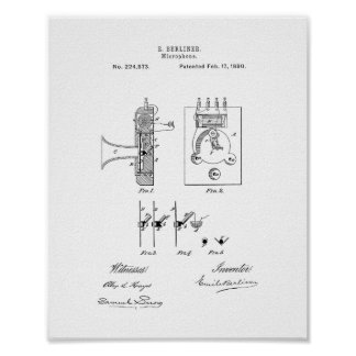 Microphone Patent Poster