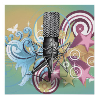 Microphone pattern. poster
