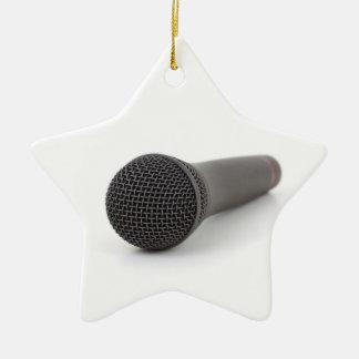 Microphone Photo Ceramic Ornament