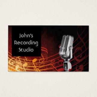 Microphone Recording Studio Business Card