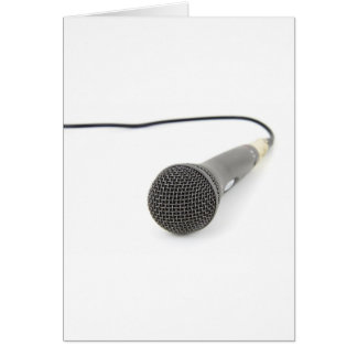 Microphone - Talk to me Card