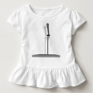 Microphone Toddler Ruffle Tee with stand.