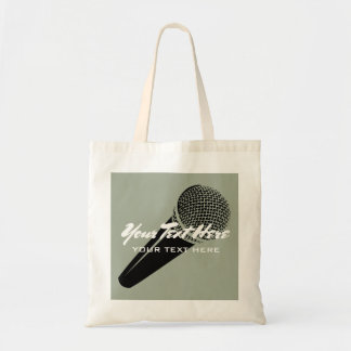 Microphone tote bags for music artist singers etc.