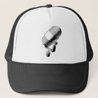 microphone trucker hat