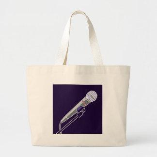 Microphone Vector Jumbo Tote Bag