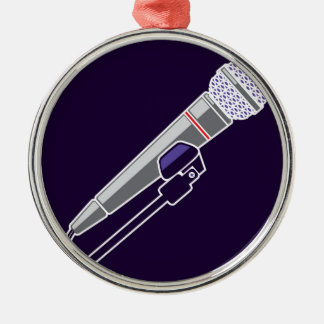 Microphone Vector Metal Ornament
