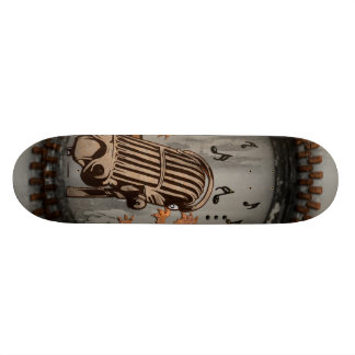 Microphone with lion 20 cm skateboard deck