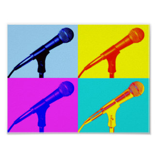 Microphone x 4 poster