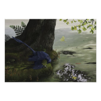 Microraptor Piscivory Print