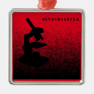 Microscope Dot Pattern Metal Ornament