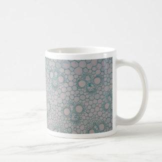 Microscope photo of a bamboo stem. coffee mug