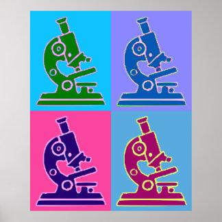 Microscope Pop Art Poster