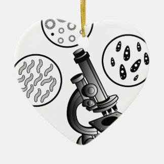 Microscope Virus Ceramic Ornament