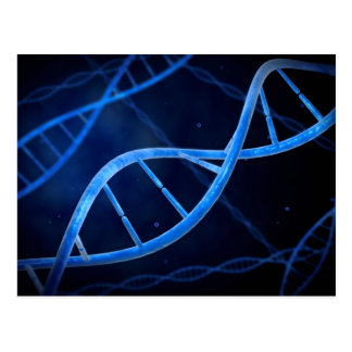 Microscopic View Of DNA Postcard