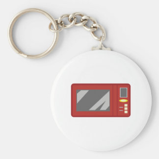 Microwave Basic Round Button Key Ring
