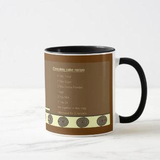 Microwave Chocolate cake recipe mug