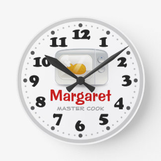 Microwave | Cute Kitchen Personalizable Gifts Round Clock
