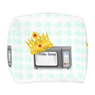 Microwave is King of the Kitchen Crown Cube Pouffe