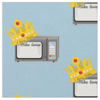 Microwave is King of the Kitchen Crown Fabric