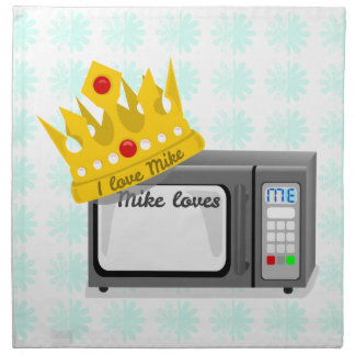 Microwave is King Printed Napkins
