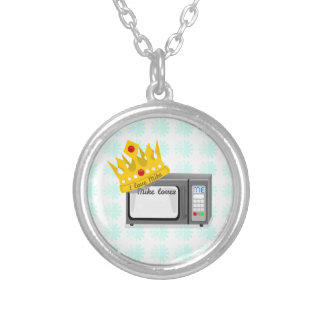 Microwave is King Round Pendant Necklace