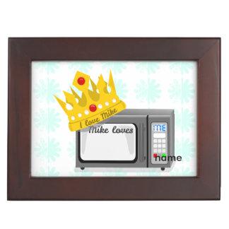 Microwave Love Crown Keepsake Box