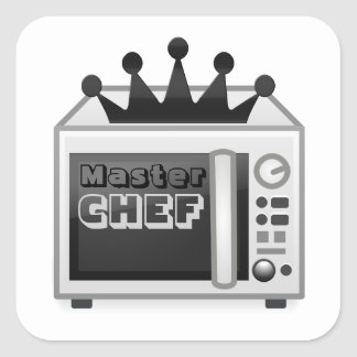 Microwave Master Chef Square Sticker